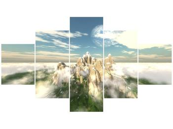 Obraz zasněžených vrcholů skal (F001715F12570)