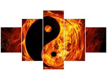 Obraz hořícího jin jang (F002309F12570)