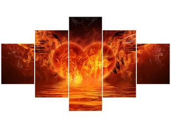 Obraz hořícího srdce s křídly  (F002884F12570)