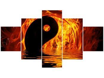 Obraz hořícího Jin Jangu  (F002885F12570)
