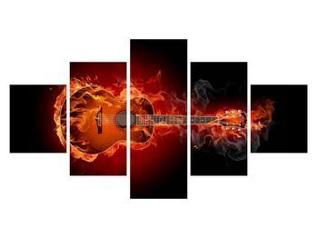 Lángoló gitár képe (K011168K12570)