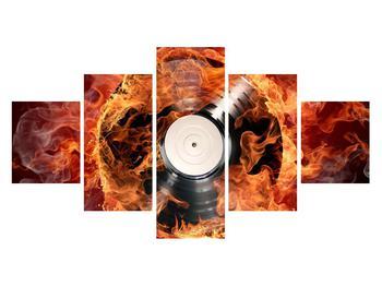 Tablou cu placă de gramofon în foc (K011171K12570)