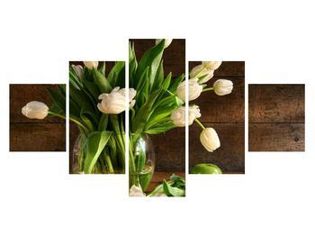 Obraz tulipánů ve váze (K011364K12570)