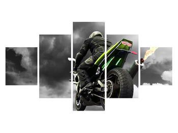 Tablou cu motociclist pe motocicletă (K011383K12570)