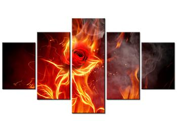 Tablou cu trandafir în foc (K011399K12570)