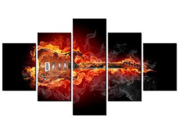 Tablou cu chitara  în foc (K011403K12570)