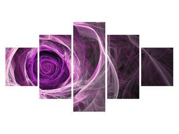 Moderný obraz fialovej ruže (K011482K12570)