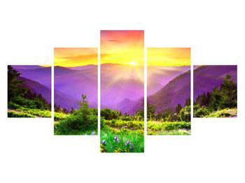 Obraz horské krajiny s východem slunce (K011873K12570)