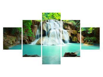 Obraz řeky s vodopády (K011969K12570)