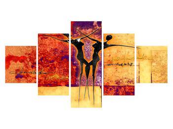 Tablou abstract cu doi dansatori (K011975K12570)