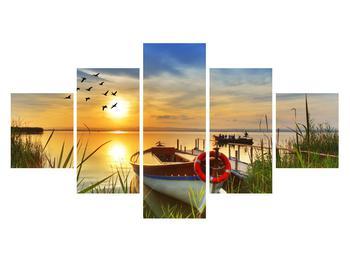 Obraz loďky na jezeře (K012049K12570)