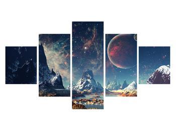 Tablou cu peisaj montan cu planete (K012168K12570)