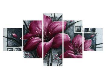 Tablou modern cu flori (K012355K12570)