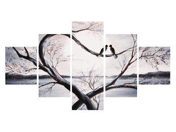 Tablou cu păsări îndrăgostite (K012516K12570)