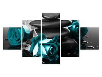 Tablou cu trandafiri albastre (K012553K12570)