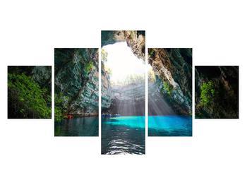 Obraz jeskyně s vodní plochou (K012667K12570)