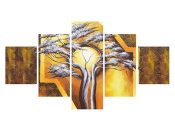 Orientální obraz stromu a slunce (K014067K12570)