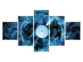 Tablou cu placă de gramofon în foc albastru (K014442K12570)