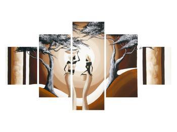 Orientální obraz dvou žen a stromu  (K014682K12570)