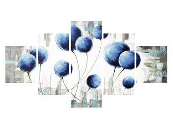 Abstraktní obraz - modré balónky (K014707K12570)