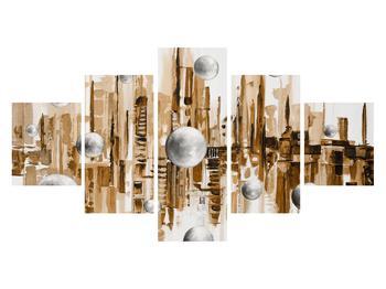Abstraktní obraz - město (K014743K12570)