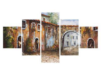Obraz malované středomořské uličky (K014855K12570)
