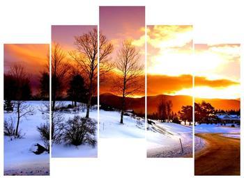 Obraz zimní krajiny (F000192F12590)