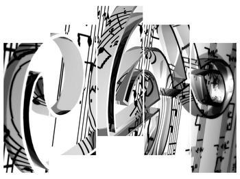Moderní obraz houslového klíče (F000206F12590)