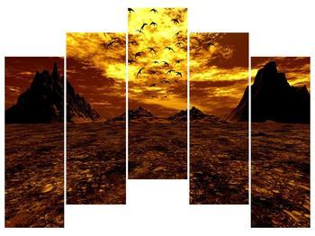 Obraz vyprahlého údolí (F000287F12590)