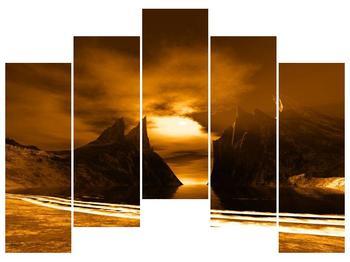 Obraz skály a pláže (F000300F12590)