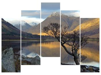 Obraz hor u jezera (F000686F12590)