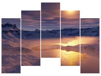 Krásný obraz zimní krajiny (F000939F12590)