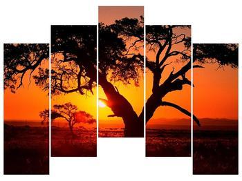 Obraz ohnivého západu slunce (F001288F12590)