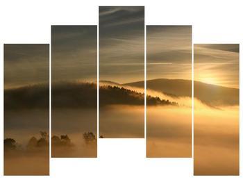 Obraz hor v mlze (F001451F12590)