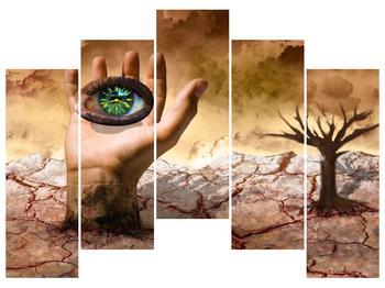Obraz oka na dlaňi (F001485F12590)