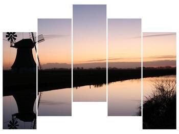 Obraz rybníku u mlýna (F001556F12590)