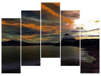 Obraz moře v temné obloze (F001564F12590)