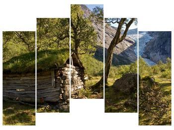 Obraz horské chatrče (F001636F12590)