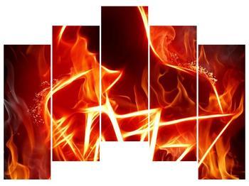 Obraz ohnivé postavy (F001691F12590)