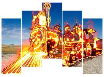 Obraz ohnivé lokomotivy (F001696F12590)