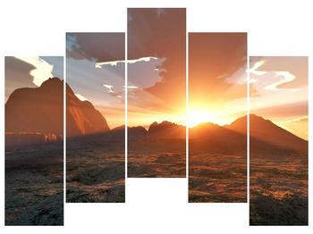 Obraz západu slunce nad horama (F001700F12590)