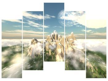 Obraz zasněžených vrcholů skal (F001715F12590)
