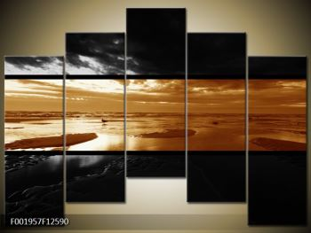 Dvroubarevný obraz moře (F001957F12590)