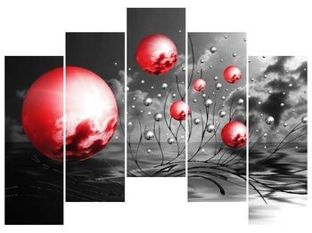 Moderní obraz - červené koule (F002086F12590)