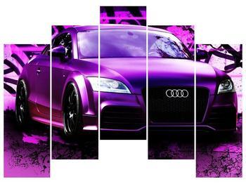 Obraz fialové Audi (F002349F12590)