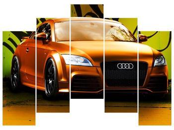 Obraz oranžové Audi (F002351F12590)