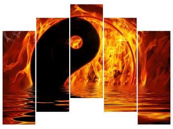 Obraz hořícího Jin Jangu  (F002885F12590)