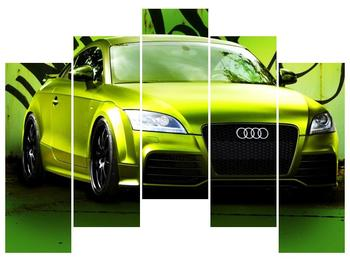 Obraz zelené Audi  (F003676F12590)