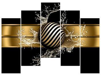 Obraz pruhované koule a vody (F004116F12590)