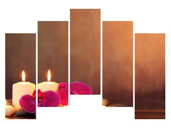 Tablou relaxant cu lumănâri și orhidee (K011120K12590)